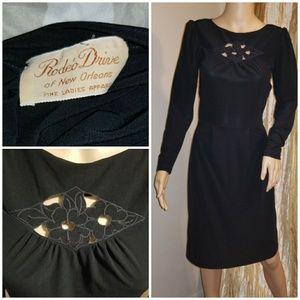 1970s cutout low back dress